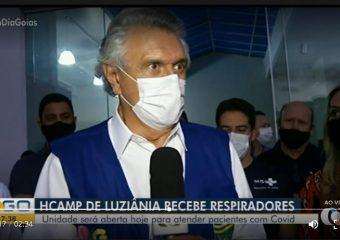 Governador Ronaldo Caiado deu menos de uma semana para HRL começar a funcionar