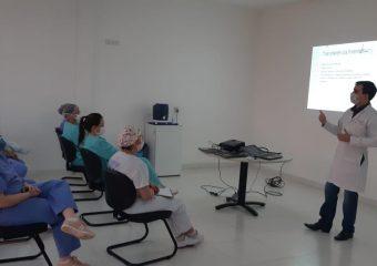 Hutrin faz treinamento técnico para avaliação de risco dos pacientes