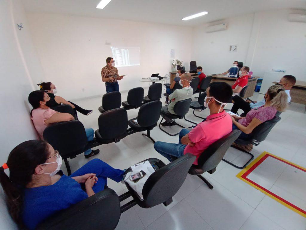 Treinamento dos integrantes da CIPA do Hospital de Urgências de Trindade. Foto: Divulgação.