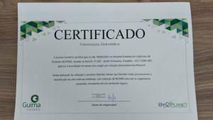 Certificação do processo de pulverização eletrostática. Foto: Divulgação.