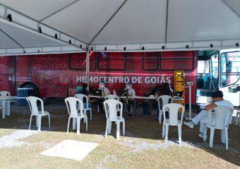 Parceria entre Hutrin e Hemocentro de Goiás tem coleta de 45 bolsas de sague